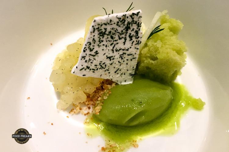 grüner Apfel - schafsjoghurt - dill
